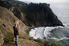 Ragged Point along the Pacific Coast Highway South of Big Sur - VW Surfari - Photo by Pat Bonish