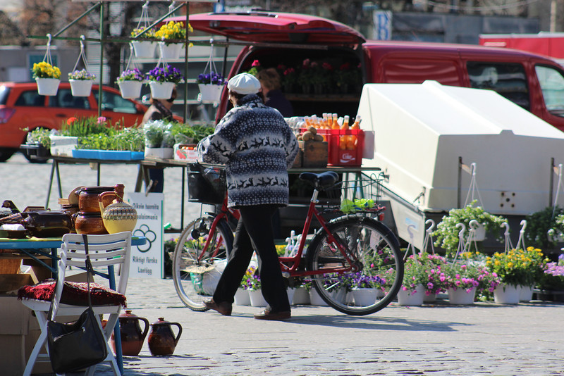 It was still a bit early in the season for vendors, but a typical Saturday morning in summer will bring lots of activity to the square .