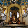 Inside the Vaasa church, where several concerts were held throughout the week.