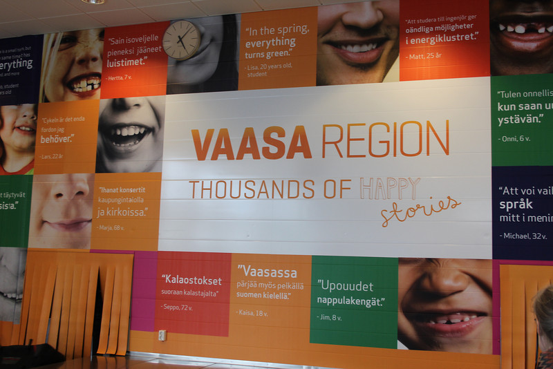 The happiness in Finland begins at the Vaasa airport...