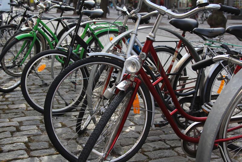 Bikes.  Because it's Europe.