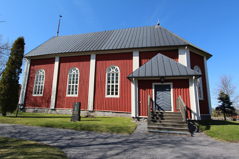 A Lutheran church on one of the islands of the Kvarken Archipelago.  Many Finnish people have summer homes on these islands.