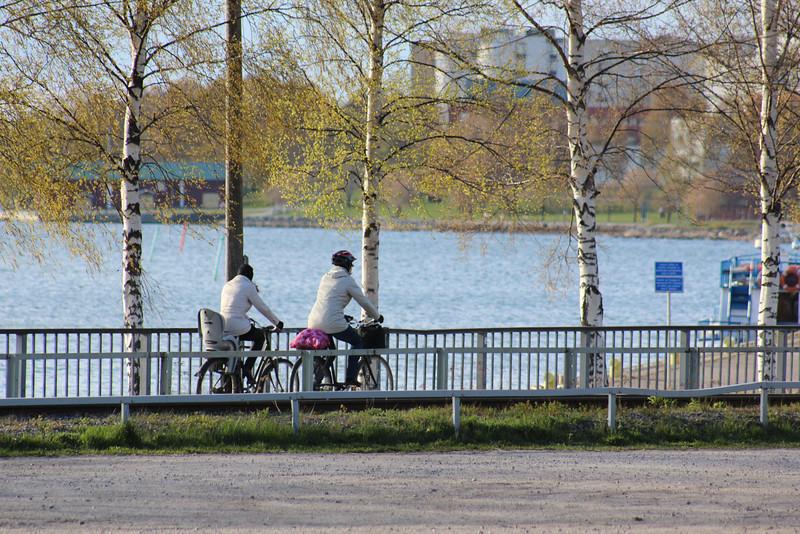 Vaasa was a very bike-friendly city.