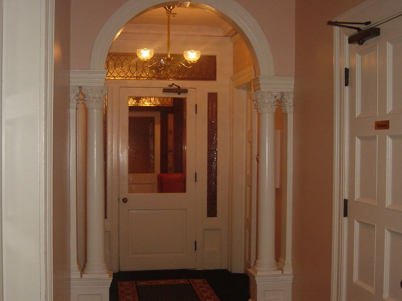 Inner entrance to our room at Sans Souci (ca 1896), Jekyll Island Club, Jekyll Island, Georgia.