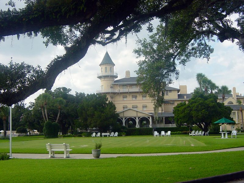Croquet court at the Jekyll Island Club.
