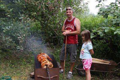 Pig roast! Yum!