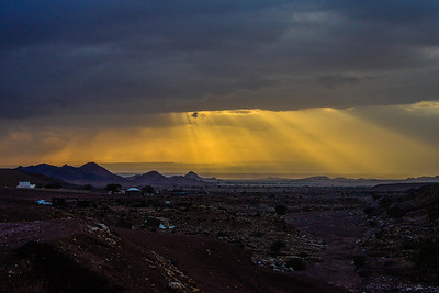 Almost Sunset, Wadi Feynan with Bedouin camps in the foreground