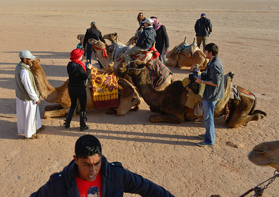 Dismounting the camels