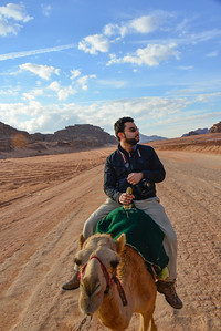 My friend Saleh on his camel checking out the scenery