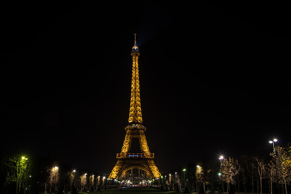 A more traditional Eiffel Tower shot. It's so beautiful at night. It had been raining quite a bit that evening, but it slowed up just long enough for me to get a beautiful picture.
