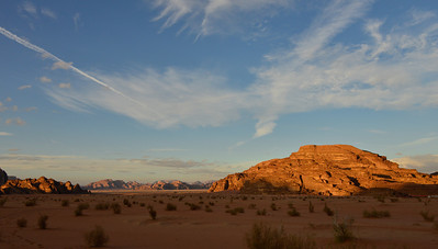 Sunset in the Wadi Rum Desert