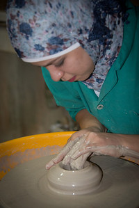 From the Iraq Al-Amir Women's Cooperative - pottery making