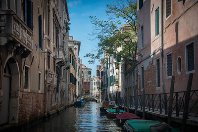 One of the many canals in Venice, from the Gondola tour.
