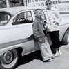 Bro and Sis with the family '58 Ford, in front of the Bucket of Blood, Virginia City, circa 1959. I'll appear in the same spot shortly...
