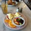Tuesday's breakfast before leaving Santa Barbara.