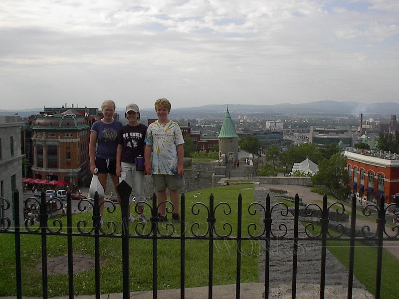 On hill near the Citadel, looking out over Quebec City