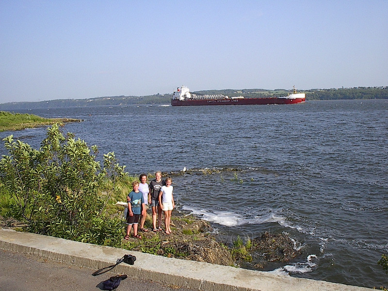 Huge Barge on the St. Lawrence Seaway
