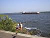Huge Barge on the St. Lawrence Seaway