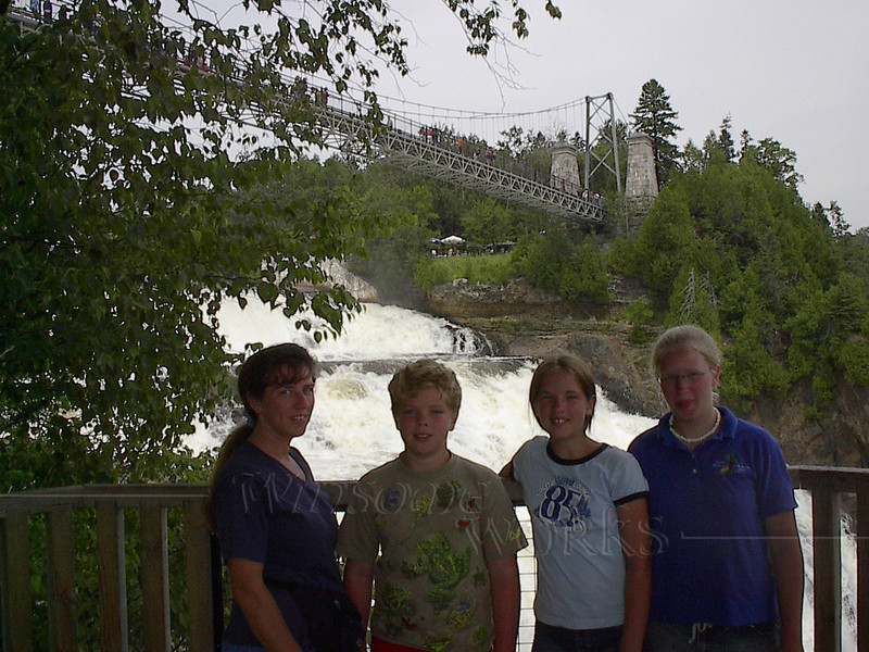 Montmorency Falls with footbridge in background