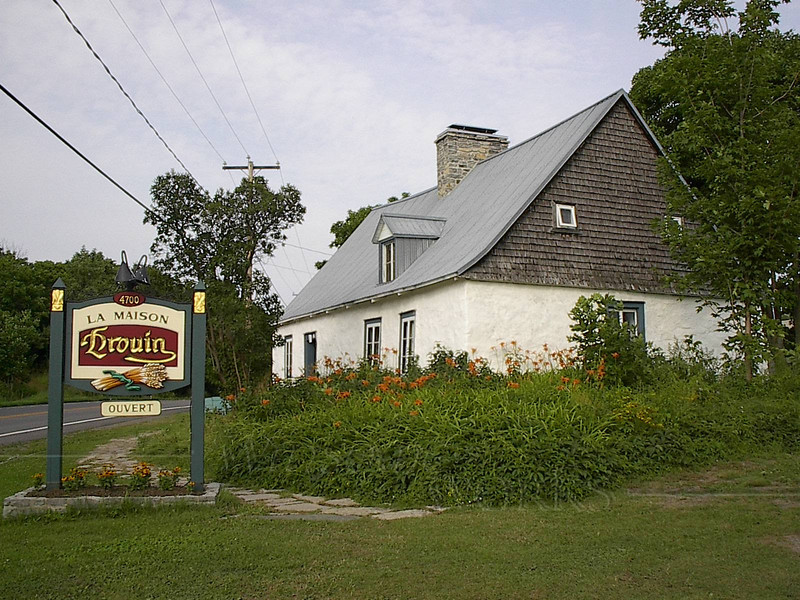 "An inn on Ile d'Orleans, ""our island"" where we camped"