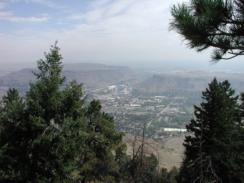 The view of Golden from lookout mountain.