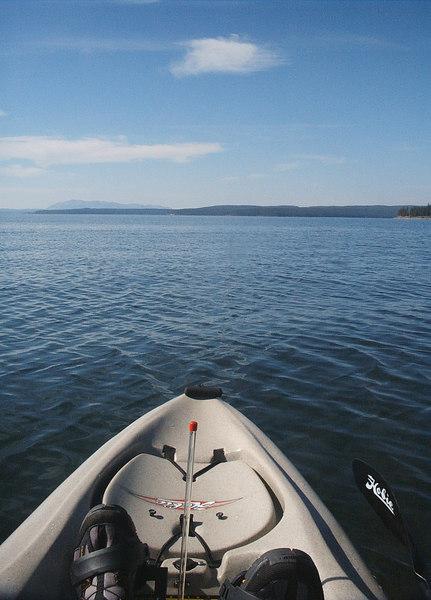 A jaunt on the lake.  Lake Yellowstone!