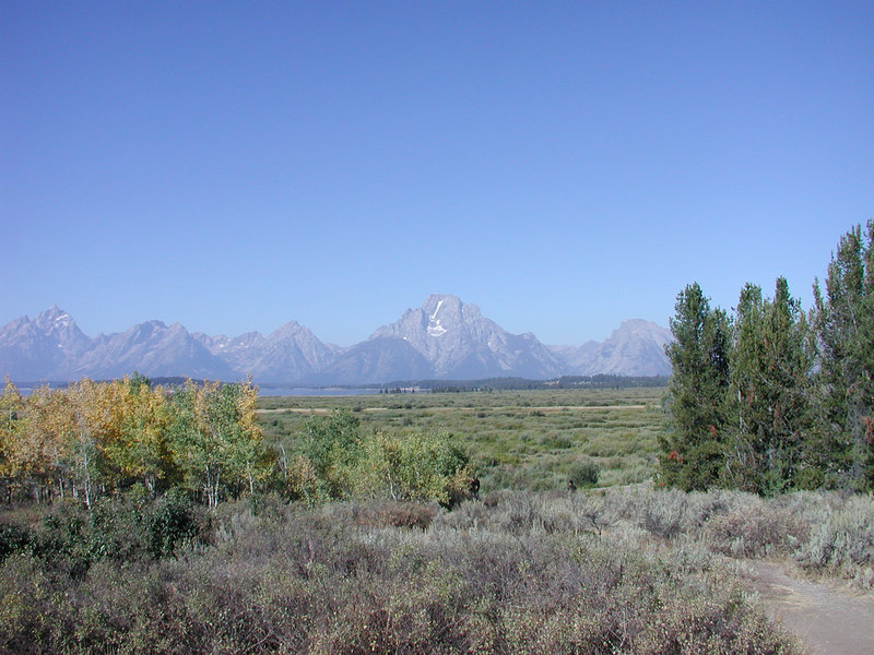 The view next morning leaving the Tetons.