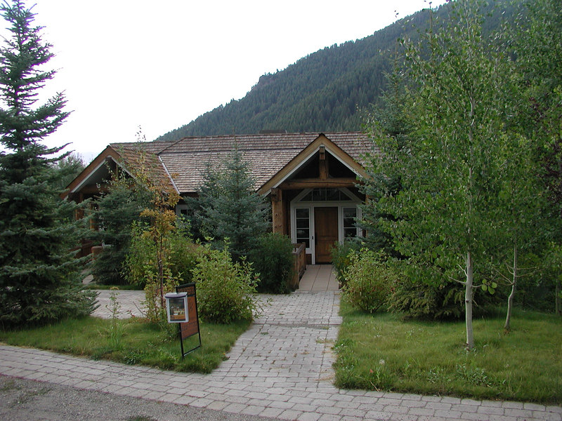 On the road to Warm Springs (a ski area with lifts to the same mountain I was just on.  I have the flyer for this house for sell.  Only $2 million dollars!