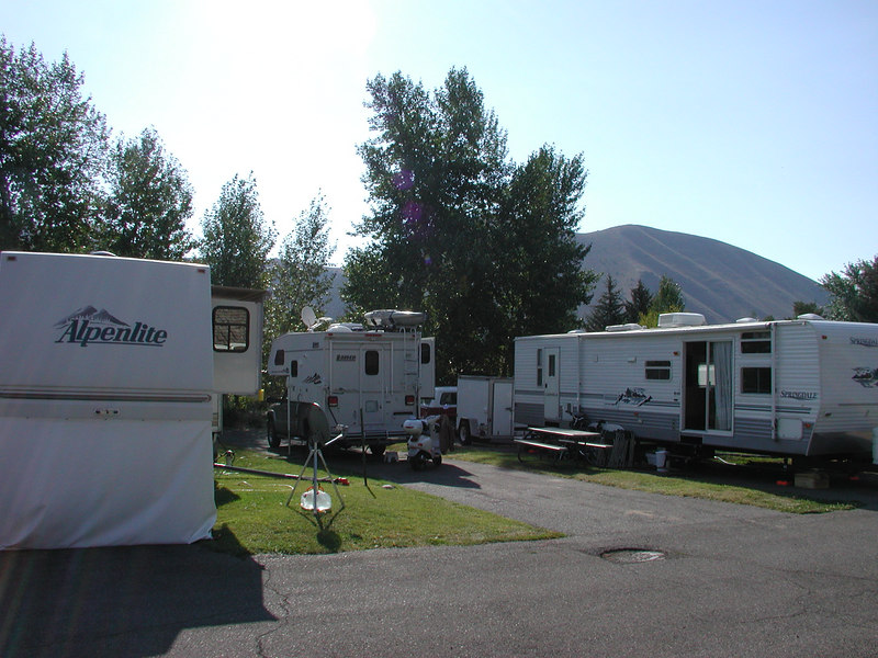 The Meadows RV park 2 miles south of Ketchum, ID.