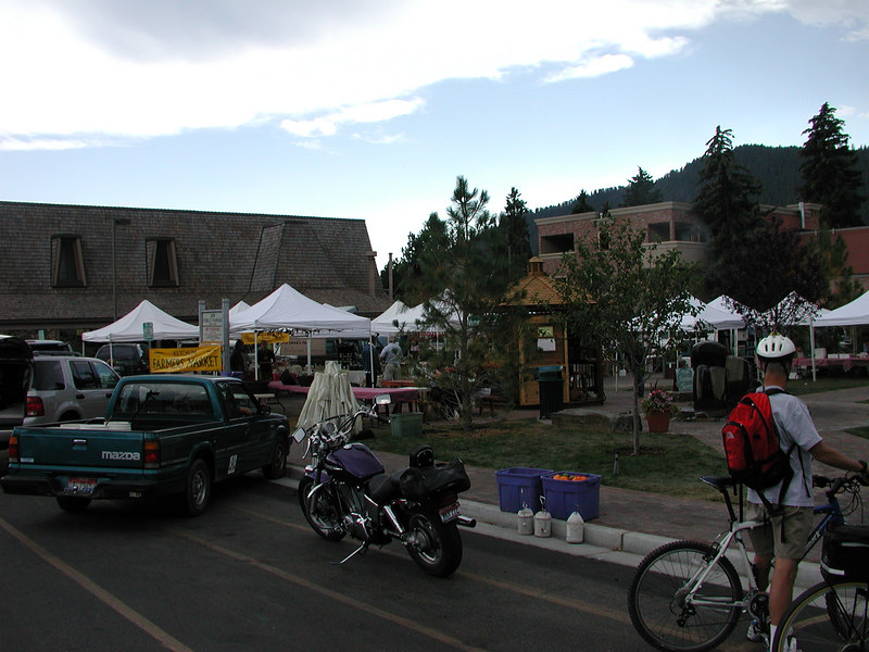 Hey, this happens to be Ketchum's farmer's market day.
