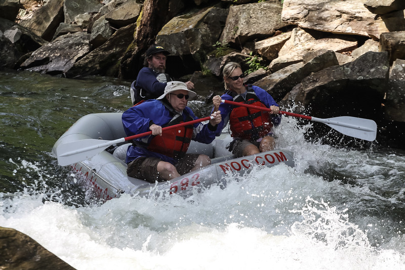 Linwood and Betty Jo go White Water Rafting