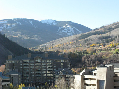 This is from the roof of the hotel in Avon.  That's Beaver Creek ski area on the mountain.