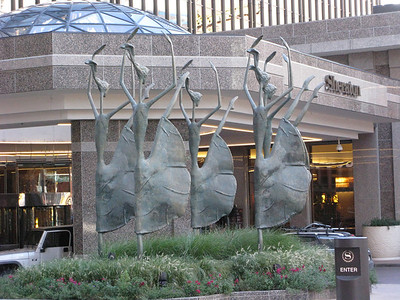 """We stayed at the Sheraton right on the 16th Street Mall downtown Denver.  The fun of running up and down the Mall was marred by the annual Zombie Parade and an """"Occupy"""" march."""