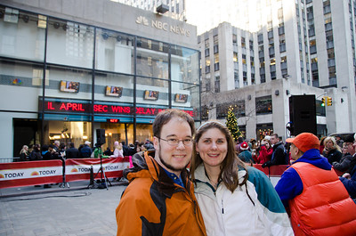 Andrea and JJ at the Today Show