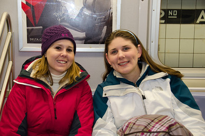 Helen and Andrea on the Subway
