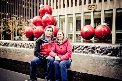 Me and Helen outside the Time Life Building