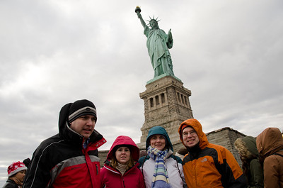 The Group on Liberty Island