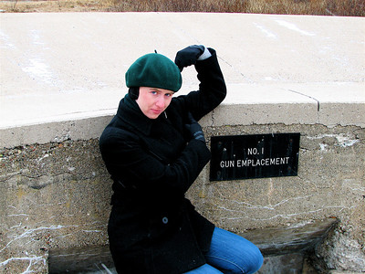 And NO. 2 GUN EMPLACEMENT is my right bicep, baby. How did they know I was coming to get those signs put up in time??