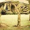 Irish National Stud & Japanese Gardens; Horses made of Wood