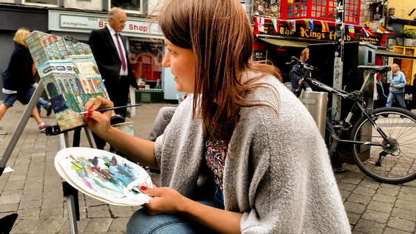 Artist in Galway City