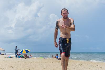 Nick walking on the beach