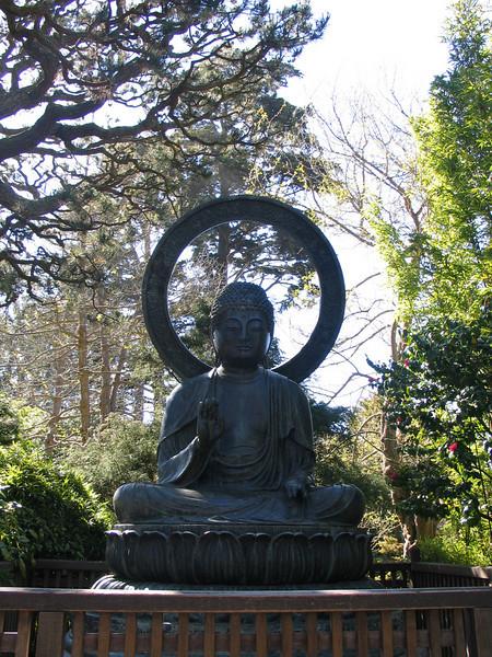 Buddha in Japanese Tea Garden