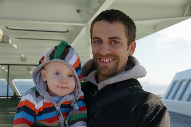 Father and Son on Ferryboat