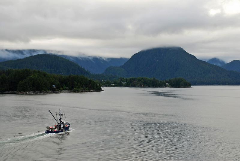 A view of the sea near Sitka, Alaska.