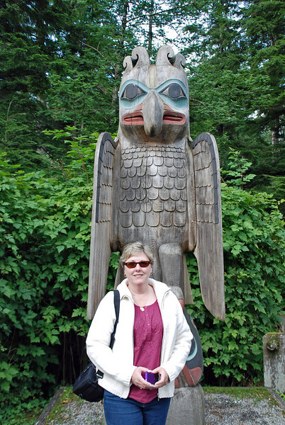 Jean at Totem Bight State Historical Park.