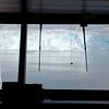 The view of Hubbard Glacier from the Zaandam bridge.