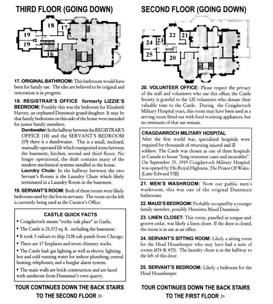 Craigdarroch Castle brochure (page 4 of 5).