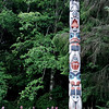 The Land Otter Pole at Totem Bight State Historical Park.