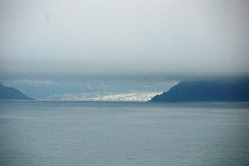 Our first view of Hubbard Glacier.