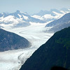 Mendenhall Glacier viewed from the helicopter.
